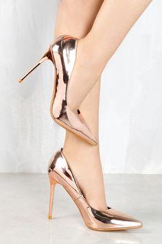 Lola Shoetique - So Flashy - Rose Gold, $35.99 (http://www.lolashoetique.com/so-flashy-rose-gold/)