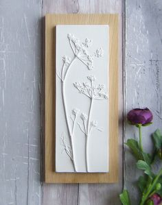 I Cast Plants, Flowers & Objects In Plaster To Create Sculptural ImagesThe tiles I create combines my love of the countryside and nature, with collecting unusual items from flea markets. I find the sculptural qualities of a simple Plaster Crafts, Plaster Art, Clay Crafts, Plaster Of Paris, Plaster Sculpture, Paris Art, Simple Flowers, Clay Projects, Clay Art