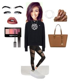 """""""Literally should've ditched school because of my hoarse cough 🤒"""" by skylasimshauser on Polyvore featuring Steve Madden, Champion, Ross-Simons, MICHAEL Michael Kors, Maybelline and Serge Lutens"""