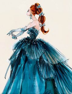 Barbie Illustration by Robert Best    When I was a kid I used to draw dress designs and thought that some day I would make them. So far not so much be I do enjoy fashion and art!