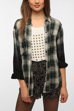 Ecote Oversized Soft Woven Button-Down Shirt - Urban Outfitters