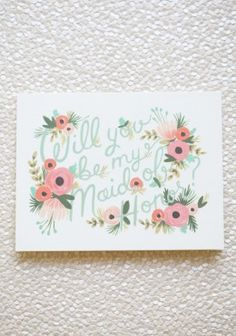 maid of honor request card