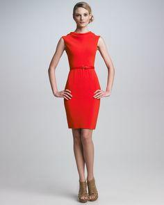 Dior Stretch Crepe Sheath Dress