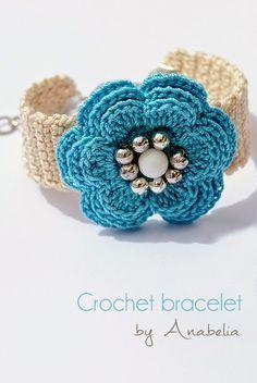 Beautiful Crochet Bracelet Inspiration! #crochet #bracelet