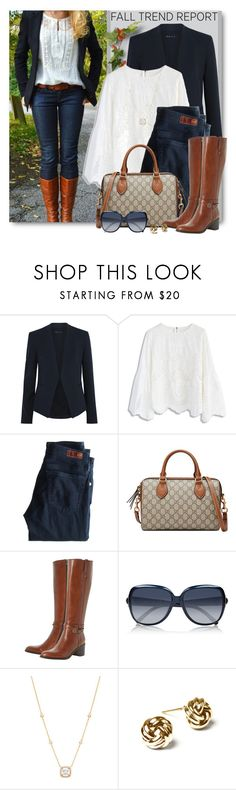 """""""Fall Trends"""" by brendariley-1 ❤ liked on Polyvore featuring Theory, Chicwish, AG Adriano Goldschmied, Gucci, Dune Black, Chloé and Mia Sarine"""