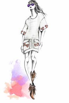 Matthew Williamson Festival SS14 Sketch