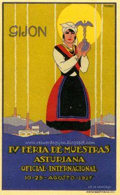 wwwrecuerdogijon.blogspot.com: ASTURIANAS ,FOLKLORE Y PUBLICIDAD