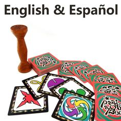 Inglés y Español Velocidad Selva tarjetas de juego de mesa para la fiesta de la familia niños bolsa de tela de mesa de juego de 2 a 80 jugadores paquete VIP