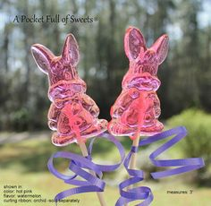 12 EASTER BUNNY RABBIT Candy Barley Sugar by APocketFullofSweets