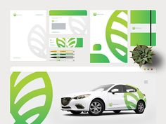 Greenleaves Logo | Stationery and identity by Julian | Graphic and Logo designer 📌