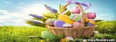Colorful Easter Egg Basket Facebook Cover Facebook Timeline Cover