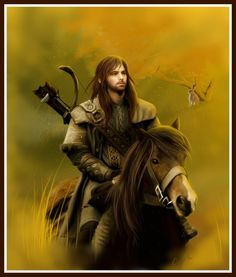 The Hobbit Fan Art: Kili on a horse Legolas, Thranduil, Fili Und Kili, Kili And Tauriel, Rings Film, Wild Bunny, Hobbit Art, Kili Hobbit, Bagginshield