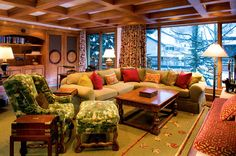 Love this...so cozy...Living Rooms - traditional - living room - denver - Dann Coffey Photography