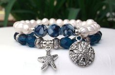 Ocean Bracelet Nature Bracelet Blue Bracelet by BlueStoneRiver, $29.95