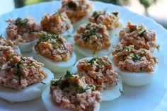 Lašiša įdaryti kiaušiniai - Receptai   Patiekalai   SkanusReceptai.lt