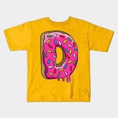 D is for Donut kids t shirt by plushism @teepub