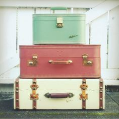 any old suitcase or trunk. i love them!