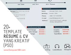 Download Gratis 20+ Template Resume dan CV yang Kreatif (PSD)