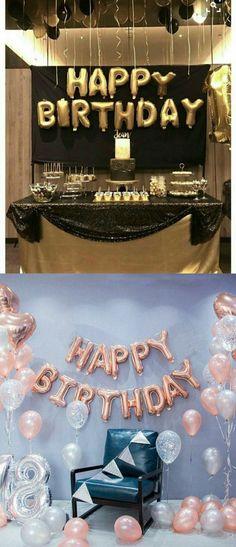 super ideas for birthday banner ideas balloons Happy Birthday Decor, Happy Birthday Balloon Banner, Birthday Party Decorations Diy, Birthday Letters, Birthday Party For Teens, 18th Birthday Party, Birthday Party Themes, Diy Birthday, Birthday Sayings