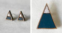 Mountain earrings by Pannikin via Wee Birdy.