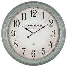Lend a timeworn touch to your living room or kitchen with this eye-catching wall clock, featuring an oversized design and a vintage-inspired look.