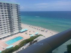 **DEALS** Starting at Oceanfront Condo on Hollywood Beach, Florida - Hollywood South Central Beach Hollywood Beach, Airplane View, Swimming Pools, Condo, Florida, Ocean, Park, Water, Travel