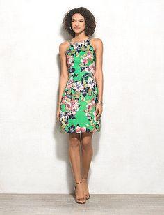 2e3b651998a roz ALI Floral Halter Dress Dress Barn Dresses