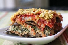 This plant-based recipe for lasagna and faux parmesan is great for dinner.
