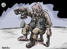 كاريكاتير - محمد سباعنة (فلسطين)  يوم الأحد 1 مارس 2015  ComicArabia.com  #كاريكاتير