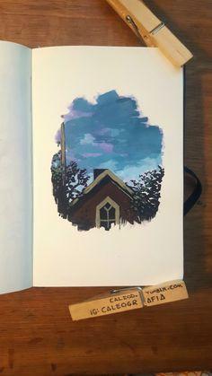 Oil Pastel Art, Arte Sketchbook, Mini Canvas Art, Marker Art, Art Drawings Sketches, Art Journal Inspiration, Painting & Drawing, Watercolor Art, Book Art