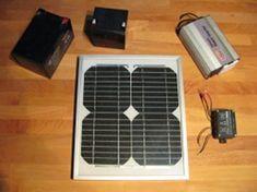 Building a small Solar Powered Generator [http://www.efficientenergysaving.co.uk/solarpowergenerator.html]