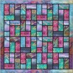 Batik stained glass quilt pattern