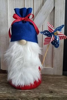 Check out this item in my Etsy shop https://www.etsy.com/listing/584805030/patriotic-americana-gnome-independence