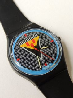 Vintage Swatch Watch Lancelot 1986 by CoolRelics on Etsy Retro Watches, Watches For Men, Men's Watches, Vintage Swatch Watch, Coat Of Arms, 80s Fashion, Affordable Fashion, Fashion Watches, Autumn Winter Fashion