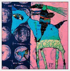 Elke Trittel acrylics,collage on bord 20x20cm                                                                                                                                                                                 More