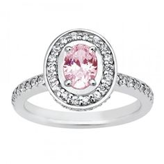 Carats Oval Pink Center Diamond #Anniversary #Ring  #jewelry #rings