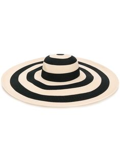 Ivory and black Sunny striped sunhat from Eugenia Kim featuring a wide brim. Hawaii Outfits, Parsons School Of Design, Eugenia Kim, Woman Face, Sun Hats, Panama Hat, Sunnies, Neutral, Women Wear
