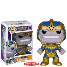 In Stock Original 6'' Funko pop Marvel Guardians of the Galaxy - Thanos Vinyl Figure Collectible Model Toy with Original box