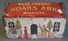 "Rare British Biscuit Tin, Juvenile, Peek Frean, NOAH'S ARK ~ ""Judy's Lovelies"" Shop"