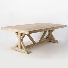 Gorgeous teak trestle table! #want