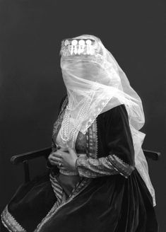 Veiled Woman with Pearls by Antoin Sevruguin