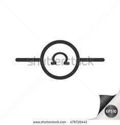 Electronic circuit symbol. Ohms meter