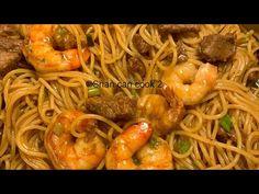 Shrimp And Steak Teriyaki Fried Noodles - Shrimp Recipes, Shrimp Ideas Videos Steak Pasta, Steak And Shrimp, Chicken Steak, Chicken And Shrimp, Chicken Pasta, Healthy Meat Recipes, Asian Recipes, Beef Recipes, Cooking Recipes