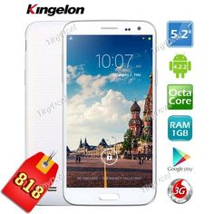KINGELON G9000 MTK6592 Android 4.2.2 Octa-core 3G Android Phone http://www.tinydeal.com/fr/kingelon-g9000-52-ips-mtk6592-android-422-3g-phone-p-127395.html site officiel http://www.tinydeal.com/fr