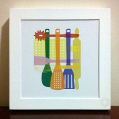 Projeto Especial Cozinha (conjunto com 3 quadrinhos) - Quadro Tools c/ cores alteradas  3/3 - 15x15