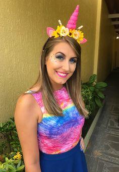 #make #carnaval #colorida #maquiagem #unicórnio