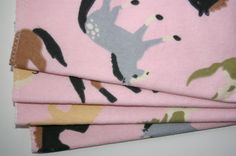 pink horses baby wash cloths/baby wipes by BeastiesBabies on Etsy, $8.00