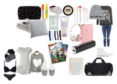 """What To Pack For A Sleepover"" by elleymorrow on Polyvore featuring Calvin Klein, adidas, Forever 21, Eberjey, Rimmel, Maybelline, Mullein & Sparrow, Accessorize, WearAll and Beats by Dr. Dre"