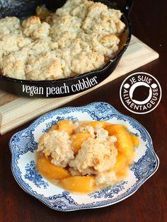 Vegan Peach Cobbler | Use unrefined sweetener