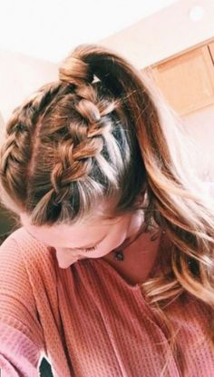 Cute and simple long hairstyles for school coolest hair color trends in yes . - Hair Styles - Cute and simple long hairstyles for school coolest hair color trends in yes # - Short Hair Styles Easy, Medium Hair Styles, Curly Hair Styles, Hair Medium, Hair Braiding Styles, Plait Styles, Medium Long, Best Hair Dye, Easy Hairstyles For Long Hair